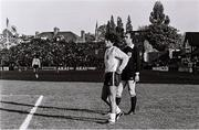 16 May 1980; Diego Maradona of Argentina with referee George Courtney during the International Friendly match between Republic of Ireland and Argentina at Lansdowne Road in Dublin. Photo by Ray McManus/Sportsfile