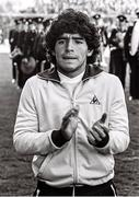 16 May 1980; Diego Maradona of Argentina prior to the International Friendly match between Republic of Ireland and Argentina at Lansdowne Road in Dublin. Photo by Ray McManus/Sportsfile