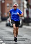 16 May 2020; Professor Tim Lynch of the The Dublin Neurological Institute, along with Freeman of Dublin and former Dublin senior men's team manager Jim Gavin and Dublin footballer and secretary of The Dublin Neurological Institute Rebecca McDonnell, pictured during The Dublin Neurological Institute 150km Frontline Run. The DNI is a registered charity where we care for patients with neurological diseases including Parkinson, Epilepsy, Motor Neuron Disease, Multiple Sclerosis, Headache, Stroke and many more is holding hold a fundraising run with staff members running this weekend to raise much needed funds. The goal is to run 150km between staff over the course of Saturday 16th and Sunday 17th May. Donations can be made at https://tinyurl.com/yd3a4d8d . The run can be tracked using the free app 'Map My Run' and anyone who wishes to join in the run is very welcome. Photo by Ray McManus/Sportsfile