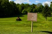 17 May 2020; A general view of a greenkeeper preparing the fairway at Fota Island Golf Club in Cork as it prepares to re-open as one of the first sports allowed to resume having followed previous directives from the Irish Government on suspending all golfing activity in an effort to contain the spread of the Coronavirus (COVID-19). Golf clubs in the Republic of Ireland can resume activity from May 18th under the Irish government's Roadmap for Reopening of Society and Business once they follow the protocol jointly published by the GUI and ILGU. The protocol sets out safe measures for golf to return in a phased manner. Photo by Eóin Noonan/Sportsfile