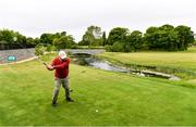 18 May 2020; Club member Brendan Foy, from Clontarf, tee's off on the 13th during a round of golf at Clontarf Golf Club in Dublin as it resumes having previously suspended all activity following directives from the Irish Government in an effort to contain the spread of the Coronavirus (COVID-19). Golf clubs in the Republic of Ireland resumed activity on May 18th under the Irish government's Roadmap for Reopening of Society and Business following strict protocols of social distancing and hand sanitisation among others allowing it to return in a phased manner. Photo by Sam Barnes/Sportsfile