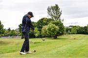 18 May 2020; Club member Paul McMahon, from Raheny, tee's off on the 14th during a round of golf at Clontarf Golf Club in Dublin as it resumes having previously suspended all activity following directives from the Irish Government in an effort to contain the spread of the Coronavirus (COVID-19). Golf clubs in the Republic of Ireland resumed activity on May 18th under the Irish government's Roadmap for Reopening of Society and Business following strict protocols of social distancing and hand sanitisation among others allowing it to return in a phased manner. Photo by Sam Barnes/Sportsfile