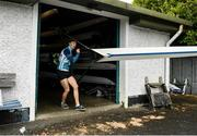 18 May 2020; Mikey Campion of Commercial Rowing Club leaves the clubhouse prior to training on the River Liffey in Dublin as it resumes having previously suspended all activity following directives from the Irish Government in an effort to contain the spread of the Coronavirus (COVID-19). Rowing clubs in the Republic of Ireland resumed activity on May 18th under the Irish government's Roadmap for Reopening of Society and Business following strict protocols of social distancing and hand sanitisation among others allowing it to return in a phased manner. Photo by Harry Murphy/Sportsfile