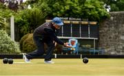 18 May 2020; Club member Aidan Foy, from Clontarf, participates in lawn bowling at Clontarf Bowling Club in Dublin as it resumes having previously suspended all activity following directives from the Irish Government in an effort to contain the spread of the Coronavirus (COVID-19). Lawn bowling clubs in the Republic of Ireland resumed activity on May 18th under the Irish government's Roadmap for Reopening of Society and Business following strict protocols of social distancing and hand sanitisation among others allowing it to return in a phased manner. Photo by Sam Barnes/Sportsfile