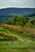 18 May 2020; Club members on the 11th fairway during a round of golf at Bray Golf Club in Wicklow as it resumes having previously suspended all activity following directives from the Irish Government in an effort to contain the spread of the Coronavirus (COVID-19). Golf clubs in the Republic of Ireland resumed activity on May 18th under the Irish government's Roadmap for Reopening of Society and Business following strict protocols of social distancing and hand sanitisation among others allowing it to return in a phased manner. Photo by Seb Daly/Sportsfile