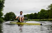 18 May 2020; Ed Meehan of Commercial Rowing club trains on the River Liffey in Dublin as it resumes having previously suspended all activity following directives from the Irish Government in an effort to contain the spread of the Coronavirus (COVID-19). Rowing clubs in the Republic of Ireland resumed activity on May 18th under the Irish government's Roadmap for Reopening of Society and Business following strict protocols of social distancing and hand sanitisation among others allowing it to return in a phased manner. Photo by Harry Murphy/Sportsfile