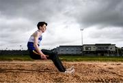 18 May 2020; Long jumper Joseph Gillespie of Finn Valley Athletic Club during a training session at the Finn Valley Centre in Stranorlar, Donegal, as athletics resumes having previously suspended all activity following directives from the Irish Government in an effort to contain the spread of the Coronavirus (COVID-19). Athletics clubs in the Republic of Ireland resumed activity on May 18th under the Irish government's Roadmap for Reopening of Society and Business following strict protocols of social distancing and hand sanitisation among others allowing it to return in a phased manner. Photo by Stephen McCarthy/Sportsfile