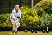 18 May 2020; Club member Gretta Hardy, Raheny, participates in lawn bowling at Clontarf Bowling Club in Dublin as it resumes having previously suspended all activity following directives from the Irish Government in an effort to contain the spread of the Coronavirus (COVID-19). Lawn bowling clubs in the Republic of Ireland resumed activity on May 18th under the Irish government's Roadmap for Reopening of Society and Business following strict protocols of social distancing and hand sanitisation among others allowing it to return in a phased manner. Photo by Sam Barnes/Sportsfile