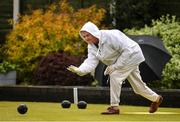 18 May 2020; Club member Gretta Hardy from Raheny participates in lawn bowling at Clontarf Bowling Club in Dublin as it resumes having previously suspended all activity following directives from the Irish Government in an effort to contain the spread of the Coronavirus (COVID-19). Lawn bowling clubs in the Republic of Ireland resumed activity on May 18th under the Irish government's Roadmap for Reopening of Society and Business following strict protocols of social distancing and hand sanitisation among others allowing it to return in a phased manner. Photo by Sam Barnes/Sportsfile