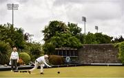 18 May 2020; Club members Gretta Hardy, right, from Raheny and Ann O'Reilly, from Clontarf, participate in lawn bowling at Clontarf Bowling Club in Dublin as it resumes having previously suspended all activity following directives from the Irish Government in an effort to contain the spread of the Coronavirus (COVID-19). Lawn bowling clubs in the Republic of Ireland resumed activity on May 18th under the Irish government's Roadmap for Reopening of Society and Business following strict protocols of social distancing and hand sanitisation among others allowing it to return in a phased manner. Photo by Sam Barnes/Sportsfile