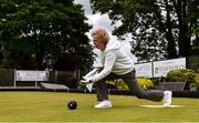 18 May 2020; Club member Ann O'Reilly, from Clontarf, participates in lawn bowling at Clontarf Bowling Club in Dublin as it resumes having previously suspended all activity following directives from the Irish Government in an effort to contain the spread of the Coronavirus (COVID-19). Lawn bowling clubs in the Republic of Ireland resumed activity on May 18th under the Irish government's Roadmap for Reopening of Society and Business following strict protocols of social distancing and hand sanitisation among others allowing it to return in a phased manner. Photo by Sam Barnes/Sportsfile