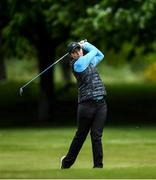 18 May 2020; Club member and former professional golfer Lisa Maguire during a round of golf at Slieve Russell Golf Club in Cavan as it resumes having previously suspended all activity following directives from the Irish Government in an effort to contain the spread of the Coronavirus (COVID-19). Golf clubs in the Republic of Ireland resumed activity on May 18th under the Irish government's Roadmap for Reopening of Society and Business following strict protocols of social distancing and hand sanitisation among others allowing it to return in a phased manner. Photo by Ramsey Cardy/Sportsfile