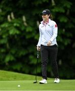 18 May 2020; Club member and Irish professional golfer Leona Maguire during a round of golf at Slieve Russell Golf Club in Cavan as it resumes having previously suspended all activity following directives from the Irish Government in an effort to contain the spread of the Coronavirus (COVID-19). Golf clubs in the Republic of Ireland resumed activity on May 18th under the Irish government's Roadmap for Reopening of Society and Business following strict protocols of social distancing and hand sanitisation among others allowing it to return in a phased manner. Photo by Ramsey Cardy/Sportsfile