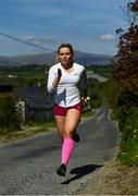 19 May 2020; Irish athlete Molly Scott during a training session at her home in Carlow while adhering to the guidelines of social distancing set down by the Health Service Executive. Following directives from the Irish Government and the Department of Health the majority of the country's sporting associations have suspended all organised sporting activity in an effort to contain the spread of the Coronavirus (COVID-19). Photo by Harry Murphy/Sportsfile