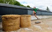 27 May 2020; Irish Long Jump athlete Shane Howard of Bandon AC, Cork, during a training session at the family farm in Rathcormac, Cork, while adhering to the guidelines of social distancing set down by the Health Service Executive. Following directives from the Irish Government and the Department of Health the majority of the country's sporting associations have suspended all organised sporting activity in an effort to contain the spread of the Coronavirus (COVID-19). As a result of these restrictions, Shane is unable to travel to his usual training facility at CIT. Photo by Sam Barnes/Sportsfile