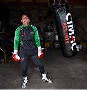 28 May 2020; Boxer Jason Quigley during a training session in Ballybofey, Donegal, while adhering to the guidelines of social distancing. Following directives from the Irish Government, the majority of sporting associations have suspended all organised sporting activity in an effort to contain the spread of the Coronavirus (COVID-19) pandemic. Photo by Stephen McCarthy/Sportsfile