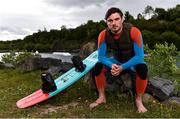 2 June 2020; Irish Professional Wakeboarder David O'Caoimh sits for a portrait ahead of a training session at Ballyhass Wake Park in Cork while adhering to the guidelines of social distancing. Following directives from the Irish Government, the majority of sporting associations have suspended all organised sporting activity in an effort to contain the spread of the Coronavirus (COVID-19) pandemic. Photo by Sam Barnes/Sportsfile