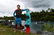 2 June 2020; Irish Professional Wakeboarder David O'Caoimh stands for a portrait ahead of a training session at Ballyhass Wake Park in Cork while adhering to the guidelines of social distancing. Following directives from the Irish Government, the majority of sporting associations have suspended all organised sporting activity in an effort to contain the spread of the Coronavirus (COVID-19) pandemic. Photo by Sam Barnes/Sportsfile