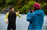 2 June 2020; Irish Professional Wakeboarder David O'Caoimh, left, films content for his YouTube channel during a training session at Ballyhass Wake Park in Cork while adhering to the guidelines of social distancing. Following directives from the Irish Government, the majority of sporting associations have suspended all organised sporting activity in an effort to contain the spread of the Coronavirus (COVID-19) pandemic. Photo by Sam Barnes/Sportsfile