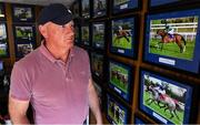 2 June 2020; Race horse trainer and former Kildare GAA footballer Willie McCreery in his office at Rathbride Stables in Kildare. Horse racing has been suspended due to the Irish Government's efforts to contain the spread of the Coronavirus (COVID-19) pandemic. Horse Racing in the Republic of Ireland is allowed to resume racing on June 8th under the Irish Government's Roadmap for Reopening of Society and Business following strict protocols of social distancing and hand sanitisation among others allowing it to return in a phased manner. Photo by Ramsey Cardy/Sportsfile