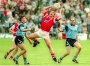 18 June 1995; Seamus O'Hanlon of Louth in action against Paul Curran, left, and Brian Stynes of Dublin during the Leinster Senior Football Championship quarter final match betwee Dublin and Louth at Pairc Tailteann in Navan, Meath. Photo by Pat Cashman/Sportsfile