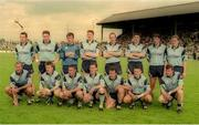 18 June 1995; The Dublin team, back row, from left, Dermot Deacy, Paul Bealin, John O'Leary, Sean Cahill, Brian Stynes, Paddy Moran, Mick Galvin, Keith Barr and front row, from left, Paul Clarke, Dessie Farrell, Paul Curran, Mick Deegan, Vinny Murphy, Keith Galvin and Charlie Redmond prior to the Leinster Senior Football Championship quarter final match betwee Dublin and Louth at Pairc Tailteann in Navan, Meath. Photo by Pat Cashman/Sportsfile