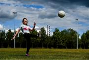 5 June 2020; Hannah Jacobs, aged 9, from Sandymount in Dublin practice her skills in Sean Moore Park, beside Clanna Gael Fontenoy GAA Club in Dublin, as GAA clubs prepare for the relaxation of restrictions under Phase 2 of the Irish Government's Roadmap for Reopening of Society and Business which call for strict protocols of social distancing and hand sanitisation among others measures allowing sections of society to return in a phased manner in an effort to contain the spread of the Coronavirus (COVID-19). GAA facilities are to open on Monday June 8 for the first time since March 25 but for recreational walking only and team training or matches are not permitted at this time. Photo by Sam Barnes/Sportsfile