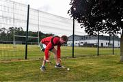 5 June 2020; Tadhg Mác Cárthaigh, member of Ardclough GAA in Kildare, during a training session on his own next to Ardclough GAA club as GAA clubs prepare for the relaxation of restrictions under Phase 2 of the Irish Government's Roadmap for Reopening of Society and Business which call for strict protocols of social distancing and hand sanitisation among others measures allowing sections of society to return in a phased manner in an effort to contain the spread of the Coronavirus (COVID-19). GAA facilities are to open on Monday June 8 for the first time since March 25 but for recreational walking only and team training or matches are not permitted at this time. Photo by Piaras Ó Mídheach/Sportsfile