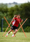 8 June 2020; Conor Clifford during a Derry City training session at Aileach FC in Burnfoot, Donegal. Following approval from the Football Association of Ireland and the Irish Government, the four European qualified SSE Airtricity League teams resumed collective training. On March 12, the FAI announced the cessation of all football under their jurisdiction upon directives from the Irish Government, the Department of Health and UEFA, due to the outbreak of the Coronavirus (COVID-19) pandemic. Photo by Stephen McCarthy/Sportsfile
