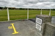 8 June 2020; Signs on the designated walkways showing the 2 metre distance at Buttevant GAA club in Buttevant, Cork. Following restrictions imposed by the Irish Government and the Health Service Executive in an effort to contain the spread of the Coronavirus (COVID-19) pandemic, all GAA facilities closed on March 25. Following the easing of restrictions, walkways in GAA clubs opened to members of the public for exercising on Monday, June 8, with pitches due to fully open to club members for training on June 29, and club matches provisionally due to start on July 31 with intercounty matches due to to take place no sooner that October 17. Photo by Eóin Noonan/Sportsfile