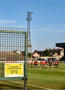8 June 2020; A general view during a Bohemian FC training session at Dalymount Park in Dublin. Following approval from the Football Association of Ireland and the Irish Government, the four European qualified SSE Airtricity League teams resumed collective training. On March 12, the FAI announced the cessation of all football under their jurisdiction upon directives from the Irish Government, the Department of Health and UEFA, due to the outbreak of the Coronavirus (COVID-19) pandemic. Photo by Sam Barnes/Sportsfile