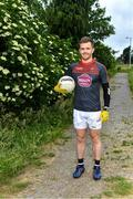 10 June 2020; Niall Kelly poses for a portrait before a training session with his Athy and Kildare team-mates Kevin Feely and David Hyland at a community pitch in Athy, Kildare. Following restrictions imposed by the Irish Government and the Health Service Executive in an effort to contain the spread of the Coronavirus (COVID-19) pandemic, all GAA facilities closed on March 25. Pitches are due to fully open to club members for training on June 29, and club matches provisionally due to start on July 31 with intercounty matches due to to take place no sooner that October 17. Photo by Piaras Ó Mídheach/Sportsfile