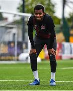 10 June 2020; Lido Lotefa following a Dundalk training session at Oriel Park in Dundalk, Louth. Following approval from the Football Association of Ireland and the Irish Government, the four European qualified SSE Airtricity League teams resumed collective training. On March 12, the FAI announced the cessation of all football under their jurisdiction upon directives from the Irish Government, the Department of Health and UEFA, due to the outbreak of the Coronavirus (COVID-19) pandemic. Photo by Ben McShane/Sportsfile