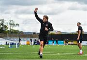 10 June 2020; Manager Vinny Perth celebrates after scoring a goal, which subsequently went wide of the post, during a Dundalk training session at Oriel Park in Dundalk, Louth. Following approval from the Football Association of Ireland and the Irish Government, the four European qualified SSE Airtricity League teams resumed collective training. On March 12, the FAI announced the cessation of all football under their jurisdiction upon directives from the Irish Government, the Department of Health and UEFA, due to the outbreak of the Coronavirus (COVID-19) pandemic. Photo by Ben McShane/Sportsfile