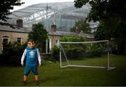 14 June 2020; Skillzy, the official mascot for UEFA EURO 2020, poses for a portrait near the Aviva Stadium in Dublin. Monday 15 June 2020 was the scheduled date for the opening game in Dublin of UEFA EURO 2020, the Group E opener between Poland and Play-off B Winner. UEFA EURO 2020, to be held in 12 European cities across 12 UEFA countries, was originally scheduled to take place from 12 June to 12 July 2020. On 17 March 2020, UEFA announced that the tournament would be delayed by a year due to the COVID-19 pandemic in Europe, and proposed it take place from 11 June to 11 July 2021. Photo by Stephen McCarthy/Sportsfile