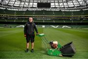 14 June 2020; Majella Smyth, Head Groundsman, Aviva Stadium, poses for a portrait in the Aviva Stadium in Dublin. Monday 15 June 2020 was the scheduled date for the opening game in Dublin of UEFA EURO 2020, the Group E opener between Poland and Play-off B Winner. UEFA EURO 2020, to be held in 12 European cities across 12 UEFA countries, was originally scheduled to take place from 12 June to 12 July 2020. On 17 March 2020, UEFA announced that the tournament would be delayed by a year due to the COVID-19 pandemic in Europe, and proposed it take place from 11 June to 11 July 2021. Photo by Stephen McCarthy/Sportsfile