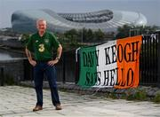 14 June 2020; Republic of Ireland supporter Davy Keogh poses for a portrait in Ringsend near the Aviva Stadium in Dublin. Monday 15 June 2020 was the scheduled date for the opening game in Dublin of UEFA EURO 2020, the Group E opener between Poland and Play-off B Winner. UEFA EURO 2020, to be held in 12 European cities across 12 UEFA countries, was originally scheduled to take place from 12 June to 12 July 2020. On 17 March 2020, UEFA announced that the tournament would be delayed by a year due to the COVID-19 pandemic in Europe, and proposed it take place from 11 June to 11 July 2021. Photo by Stephen McCarthy/Sportsfile