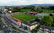2 May 2020; An aerial view of Tolka Park, home of Shelbourne Football Club, in Drumcondra, Dublin. Photo by Ramsey Cardy/Sportsfile