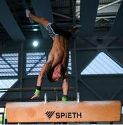 15 June 2020; Team Ireland gymnast Rhys McClenaghan during his return to the National Gymnastics Training Centre in the Sport Ireland Campus in Dublin. Seven high-performance Gymnastics Ireland gymnasts plus support staff have been approved for return to training under Sport Ireland and the Irish Government's Roadmap for Reopening of Society and Business following strict protocols of social distancing and hand sanitisation among other measures allowing it to return in a phased manner, having been suspended since March due to the Irish Government's efforts to contain the spread of the Coronavirus (COVID-19) pandemic. Photo by Ramsey Cardy/Sportsfile