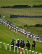 15 June 2020; A view of the field during the Global Rossie Day On 21st June Handicap at Roscommon Racecourse in Roscommon. Horse racing has been allowed to resume from June 8 under the Irish Government's Roadmap for Reopening of Society and Business following strict protocols of social distancing and hand sanitisation among others allowing it to return in a phased manner, having been suspended from March 25 due to the Irish Government's efforts to contain the spread of the Coronavirus (COVID-19) pandemic. Photo by Seb Daly/Sportsfile