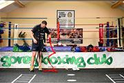 17 June 2020; Professional boxer Niall Kennedy during a training session at the Gorey Boxing Club in Wexford. Photo by Stephen McCarthy/Sportsfile