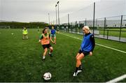 19 June 2020; Stephanie Roche, right, and Louise Corrigan during a Peamount United squad training session in Greenogue in Newcastle, Dublin. Following approval from the Football Association of Ireland and the Irish Government, a number of national league teams have been allowed to resume collective training. On March 12, the FAI announced the cessation of all football under their jurisdiction upon directives from the Irish Government, the Department of Health and UEFA, in an effort to contain teh spread of the Coronavirus (COVID-19) pandemic. Photo by David Fitzgerald/Sportsfile