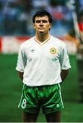 21 June 1990; Ray Houghton of Republic of Ireland ahead of the FIFA World Cup 1990 Group F match between Republic of Ireland and Netherlands at Stadio La Favorita in Palermo, Italy. Photo by Ray McManus/Sportsfile