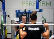 19 June 2020; Diver Clare Cryan during a training session at the Sport Ireland Campus in Dublin. Athletes have been approved for return of restricted training under Athletics Ireland and the Irish Government's Roadmap for Reopening of Society and Business following strict protocols of social distancing and hand sanitisation among other measures allowing it to return in a phased manner, having been suspended since March due to the Irish Government's efforts to contain the spread of the Coronavirus (COVID-19) pandemic. Photo by Stephen McCarthy/Sportsfile