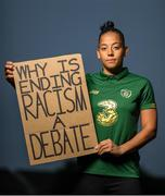 21 June 2020; Republic of Ireland and Brighton & Hove Albion soccer player Rianna Jarrett in Citywest, Dublin. To The New Generation is a series of portraits of Black athletes in Ireland, representing their communities and families, and in some instances Ireland, in a variety of sports, including athletics, basketball, GAA, rugby and soccer. Their stories reflect a contemporary and multicultural Ireland and Ireland's place in the world, moving more and more from an emigrant nation to an immigrant nation offering hope and a life to many people from beyond our shores. Photo by Ramsey Cardy/Sportsfile