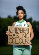 21 June 2020; Former Ulster Rockets basketball player Mimi Troy in Donabate, Dublin. To The New Generation is a series of portraits of Black athletes in Ireland, representing their communities and families, and in some instances Ireland, in a variety of sports, including athletics, basketball, GAA, rugby and soccer. Their stories reflect a contemporary and multicultural Ireland and Ireland's place in the world, moving more and more from an emigrant nation to an immigrant nation offering hope and a life to many people from beyond our shores. Photo by Ramsey Cardy/Sportsfile
