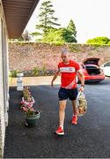 22 June 2020; Monaleen GAA player Daniel Power delivers shopping to The Sisters of the Little Company of Mary in Milford, Limerick. GAA clubs nationwide help out their local communities during restrictions imposed by the Irish Government in an effort to contain the spread of the Coronavirus (COVID-19) pandemic. GAA facilities reopened on Monday June 8 for the first time since March 25 with club matches provisionally due to start on July 31 and intercounty matches due to to take place no sooner that October 17. Photo by Eóin Noonan/Sportsfile