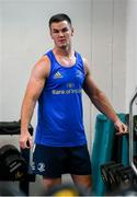 22 June 2020; Jonathan Sexton during a Leinster rugby gym session at UCD in Dublin. Rugby teams have been approved for return of restricted training under IRFU and the Irish Government's Roadmap for Reopening of Society and Business following strict protocols of social distancing and hand sanitisation among other measures allowing it to return in a phased manner, having been suspended since March due to the Irish Government's efforts to contain the spread of the Coronavirus (COVID-19) pandemic. Photo by Marcus Ó Buachalla for Leinster Rugby via Sportsfile