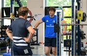 22 June 2020; Ryan Baird during a Leinster rugby gym session at UCD in Dublin. Rugby teams have been approved for return of restricted training under IRFU and the Irish Government's Roadmap for Reopening of Society and Business following strict protocols of social distancing and hand sanitisation among other measures allowing it to return in a phased manner, having been suspended since March due to the Irish Government's efforts to contain the spread of the Coronavirus (COVID-19) pandemic. Photo by Conor Sharkey for Leinster Rugby via Sportsfile