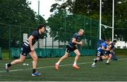 22 June 2020; Jack Dunne, left, Devin Toner and Seán Cronin during Leinster rugby squad training at UCD in Dublin. Rugby teams have been approved for return of restricted training under IRFU and the Irish Government's Roadmap for Reopening of Society and Business following strict protocols of social distancing and hand sanitisation among other measures allowing it to return in a phased manner, having been suspended since March due to the Irish Government's efforts to contain the spread of the Coronavirus (COVID-19) pandemic. Photo by Marcus Ó Buachalla for Leinster Rugby via Sportsfile